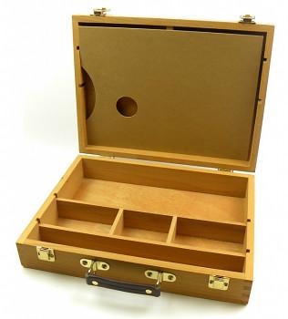 Kufřík na barvy dřevěný 32,5x25x7,5cm
