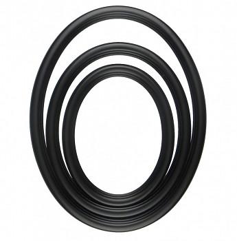 Oválný rám černý – různé velikosti