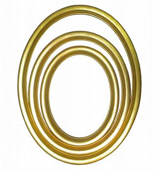 Oválný rám zlatý – různé velikosti