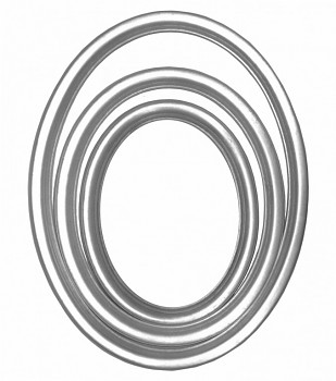 Oválný rám stříbrný – různé velikosti