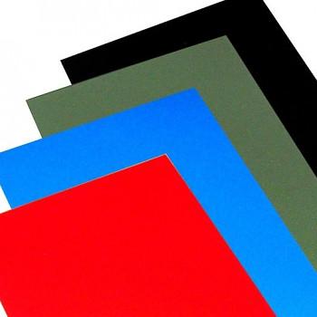 Barevné papíry 70x100cm, 300g – 9 barev