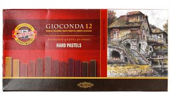 Tvrdé pastely Gioconda 12ks – hnědé odstíny