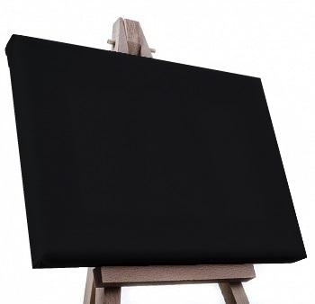 Malířské plátno napnuté černé – 465 rozměrů
