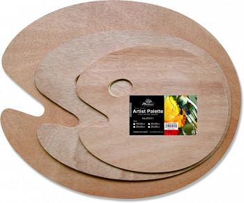 Dřevěná paleta oválná 30x40cm/5mm