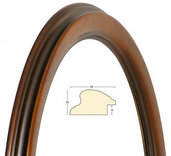 Masivní rám hnědý oválný – 50x60cm