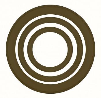Masivní kulatý rám hnědý – různé velikosti