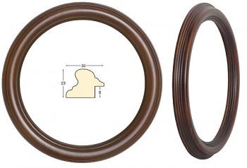 Masivní rám hnědý kulatý – průměr 20cm