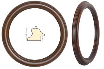 Masivní rám hnědý kulatý – průměr 30cm