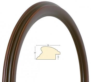 Masivní rám hnědý kulatý – průměr 50cm