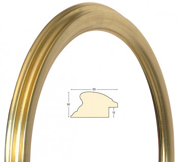 Masivní rám zlatý kulatý – průměr 50cm