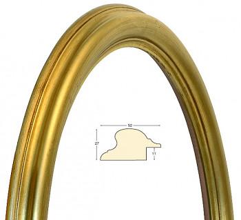 Masivní rám zlatý oválný – 40x50cm