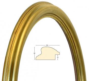 Masivní rám zlatý oválný – 50x60cm