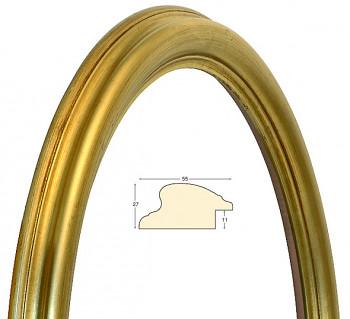 Masivní rám zlatý oválný – 60x80cm