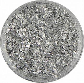 Zlatící vločky stříbrné 10g