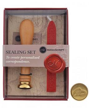 Pečetidlo dřevěné s voskem – prstýnky