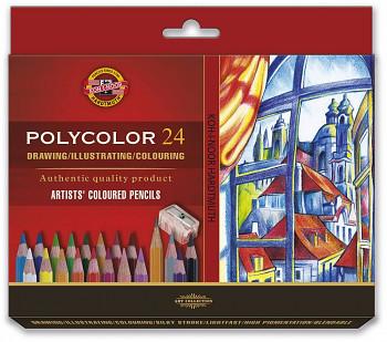 Pastelky Polycolor sada 24ks v papírovém obalu