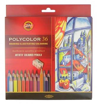 Pastelky Polycolor sada 36ks v papírovém obalu