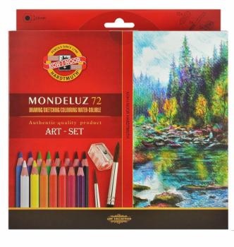 Akvarelové pastelky Mondeluz Art-set 72ks