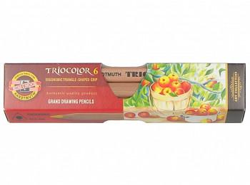 Trojhranné pastelky Triocolor sada 6ks