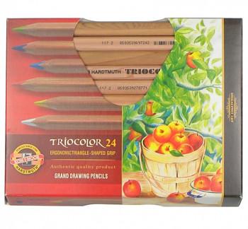 Trojhranné pastelky Triocolor sada 24ks