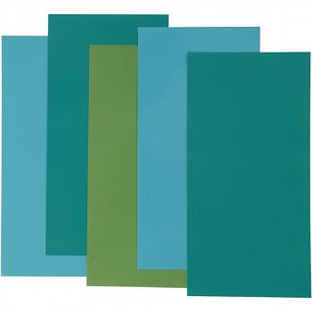 Dekorační zapékací fólie na sklo a porcelán - zelená sada