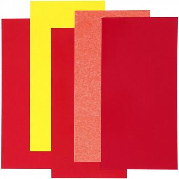 Dekorační zapékací fólie na sklo a porcelán - červená sada