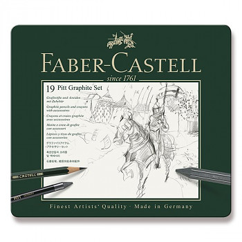 Kreslířská sada Faber-Castell Pitt 19ks