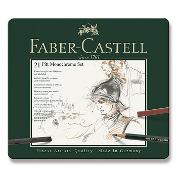 Kreslířská sada Faber-Castell Pitt 21ks