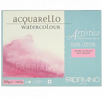 Fabriano Artistico Hot pressed 23x30,5cm 300g blok pro akvarel