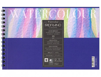 Fabriano Watercolour A4 300g cold pressed, blok pro akvarel