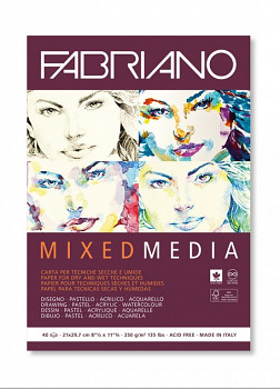 Blok Fabriano Mixed media 250g A4