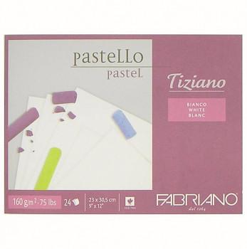 Blok pro pastel Tiziano bílý 23x30,5cm 160g