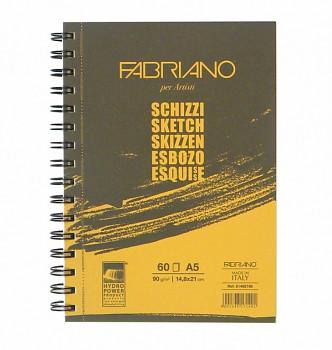Skicák Fabriano Schizzi 90g A5 long side