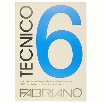 Fabriano Tecnico 6 hladký 240g 35x50cm blok