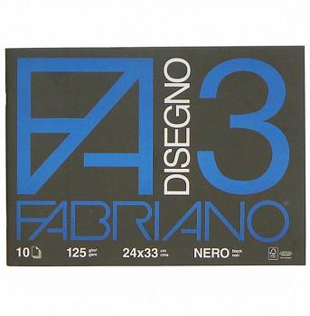 Skicák Fabriano Disegno 3 černý 24x33cm 125g