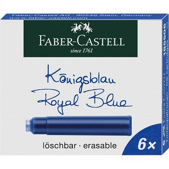 Inkoustové bombičky modré Faber-Castell