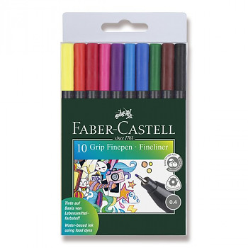 Barevné popisovače Faber-Castell Grip 10ks