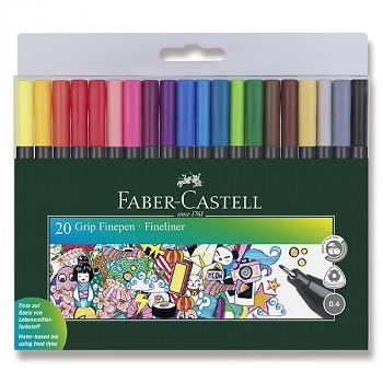 Barevné popisovače Faber-Castell Grip 20ks
