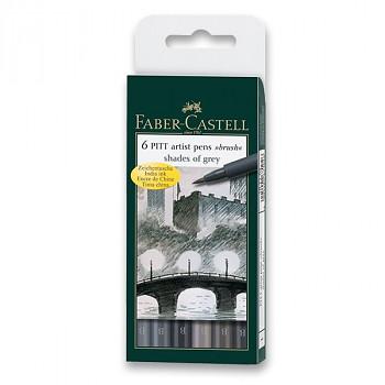 Sada popisovačů Faber-Castell Pitt brush 6ks