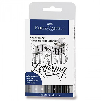 Popisovače F-C Hand lettering 9ks