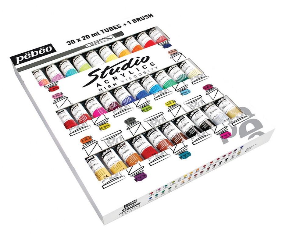 Sada akrylových barev Pébéo 30x20ml