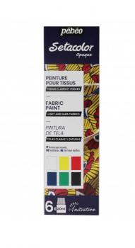 Sada barev na textil Setacolor 6ks