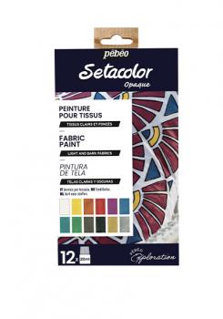 Sada barev na textil Setacolor 12x20ml
