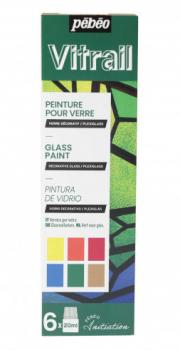 Sada barev na sklo Vitrail 6 x 20ml