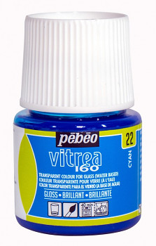 Vypalovací barva na sklo Vitrea 45ml – všechny odstíny