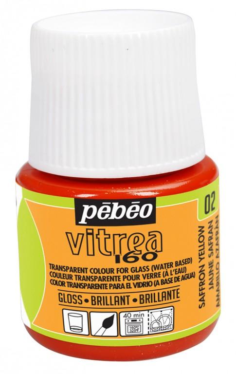 Barva na sklo Vitrea 45ml – 02 žlutá saffronová