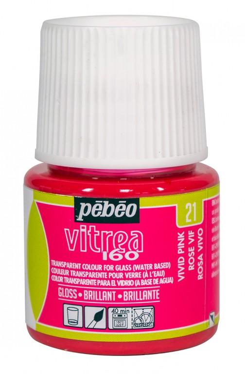 Barva na sklo Vitrea 45ml – 21 růžová výrazná
