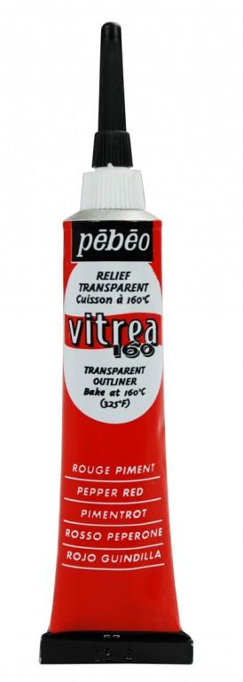Kontura na sklo Vitrea 20ml – červená pepper