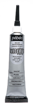Kontura na sklo Vitrea 20ml – perlová