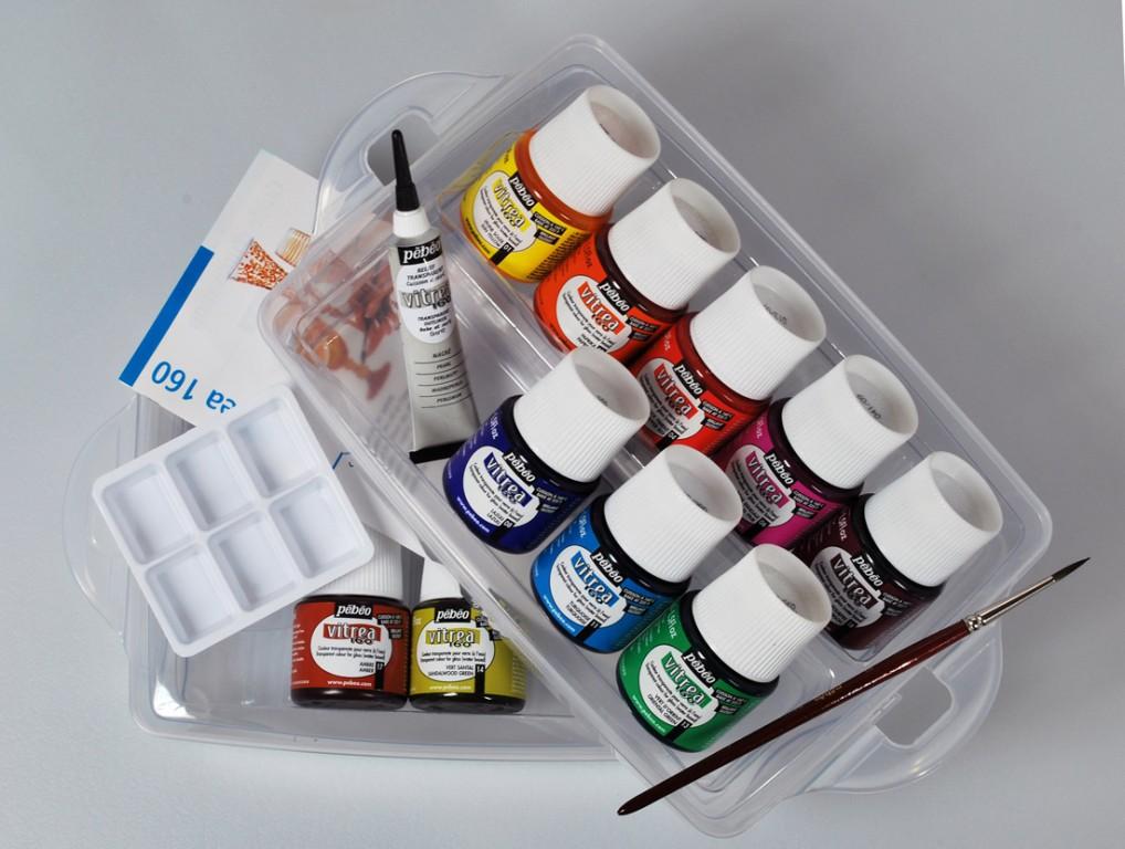 Vitrea 160 - sada 10 barev na sklo v plastové dóze
